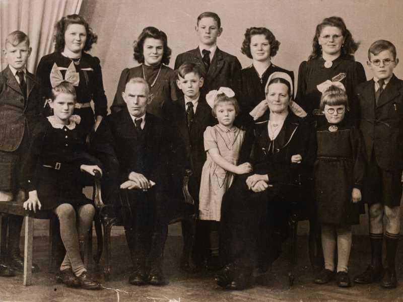 Familiefoto van vroeger
